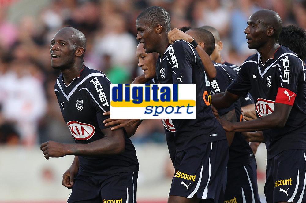 FOOTBALL - FRENCH CHAMPIONSHIP 2010/2011 - L1 - GIRONDINS BORDEAUX v FC LORIENT - 2/10/2010 - PHOTO ERIC BRETAGNON / DPPI - JOY MICHAEL CIANI