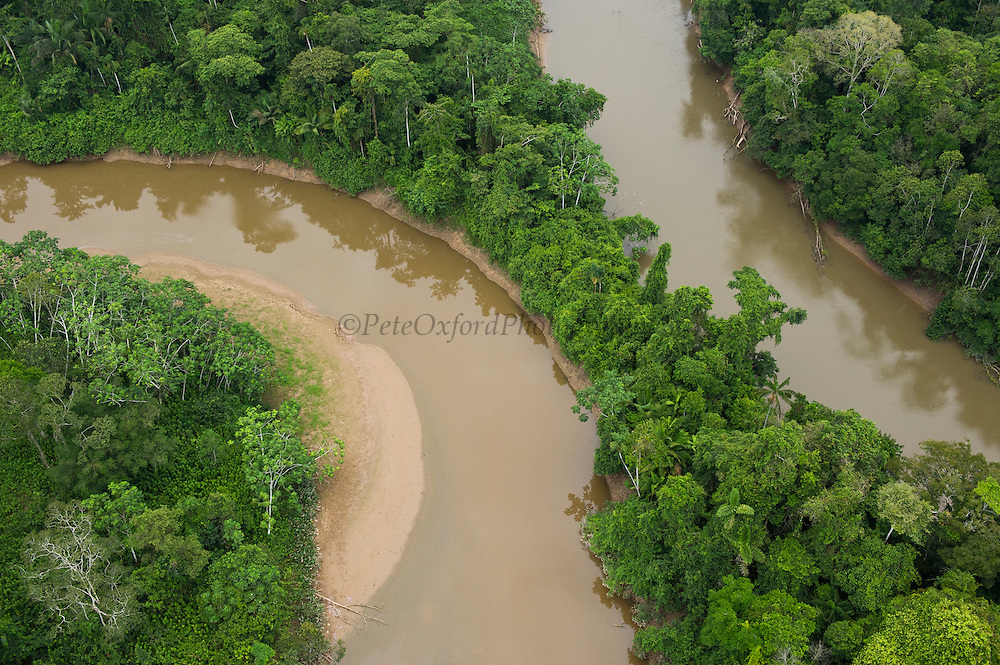 Tiputini River and Rainforest<br /> Yasuni National Park, Amazon Rainforest<br /> ECUADOR. South America