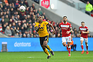 Ivan Cavaleiro (7) of Wolverhampton Wanderers on the attack during the The FA Cup 5th round match between Bristol City and Wolverhampton Wanderers at Ashton Gate, Bristol, England on 17 February 2019.
