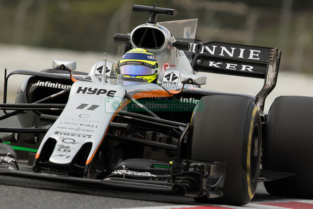 March 10, 2017 - Barcelona, Barcelona, Spain - Sergio Perez of Mexico driving the (11) Sahara Force India F1 Team VJM10 in action during the Formula One winter testing at Circuit de Catalunya on March 10, 2017 in Montmelo, Spain. (Credit Image: © Dpi/NurPhoto via ZUMA Press)