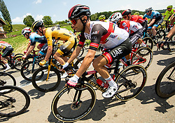 Dylan HOPKINS of LJUBLJANA GUSTO SANTIC, Diego ULISSI of UAE TEAM EMIRATES during 1st Stage of 27th Tour of Slovenia 2021 cycling race between Ptuj and Rogaska Slatina (151,5 km), on June 9, 2021 in Slovenia. Photo by Vid Ponikvar / Sportida