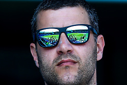 An Everton fan looks on as his sunglasses reflect Goodison Park ahead of Everton v Manchester United in The Premier League - Mandatory by-line: Robbie Stephenson/JMP - 21/04/2019 - FOOTBALL - Goodison Park - Liverpool, England - Everton v Manchester United - Premier League