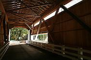 Inside covered bridge