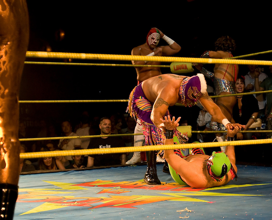 Luhca Va Voom, masked Mexican wrestlers and burlesque