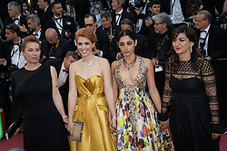 Didar Domehri, Golshifteh Farahani,r Eva Husson and Emmanuelle Bercot attending the premiere of the film Les Filles du Soleil during the 71st Cannes Film Festival in Cannes, France on May 12, 2018. Photo by Julien Zannoni/APS-Medias/ABACAPRESS.COM