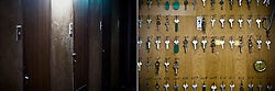 LEFT: Doors of a cheap motel where many day labors and welfare recipients live are seen in Osaka, Japan.<br /> <br /> RIGHT: Keys of cheap motel where many day labors and welfare recipients stay are seen in Osaka, Japan.