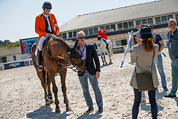 Smolders Harrie, Coulter Jim, Coulter Penny, eignaars Don VHP Z, Verlooy Axel<br /> Longines FEI Jumping Nations Cup de France<br /> La Baule 2018<br /> © Hippo Foto - Dirk Caremans<br /> 20/05/2018