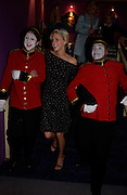 Donna Air with Ding and Dong from Blase Entertainments. The Grosvenor House Art and Antiques Fair charity Gala evening in aid of the NSPCC. 16 June2005. ONE TIME USE ONLY - DO NOT ARCHIVE  © Copyright Photograph by Dafydd Jones 66 Stockwell Park Rd. London SW9 0DA Tel 020 7733 0108 www.dafjones.com