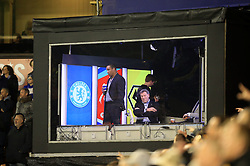18 February 2017 - The FA Cup - (5th Round) - Wolverhampton Wanderers v Chelsea - glenn Hoddle pulls a face as he watches from the BT sport studio with Paul Ince- Photo: Marc Atkins / Offside.