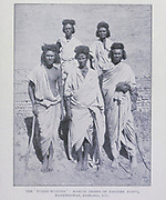 "The ' fuzzie wuzzies ' hamite tribes of eastern Egypt Hadendowas, Bisharis, etc [""Fuzzy-Wuzzy"" was the term used by British soldiers for Beja warriors who were supporting the Mahdi of Sudan in the Mahdist War. The term relates to the elaborate tiffa hair style favoured by the Hadendoa tribe, a subdivision of the Beja people. ] From the Book '  Britain across the seas : Africa : a history and description of the British Empire in Africa ' by Johnston, Harry Hamilton, Sir, 1858-1927 Published in 1910 in London by National Society's Depository"
