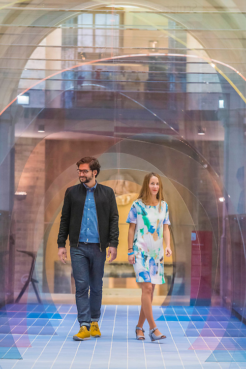 Mise en Abyme by Laetitia de Allegri and Matteo Fogale  (both pictured)-  The London Design Festival comes to the V&A with a range of installations including: Zotem, supported by Swarovski, is an 18m tall double-sided monolith created by young Norwegian designer Kim Thomé; The Cloakroom by Faye Toogood, where visitors are invited to take one of 150 coats to wear as they explore the Museum using a sewn-in fabric map to guide them to discover 10 different coat sculptures; Curiosity Cloud by mischer'traxler, for Perrier-Jouet in the Music Room, in which 250 mouth-blown glass globes hang from the ceiling containing a single, hand-made insect; and The Ogham Wall, by Grafton Architects for Irish Design 2015, in which 23 'fins' (resembling Irish and British standing stones) carry an ancient alphabet which originated deep in Irish Celtic history. The annual festival runs from 19 – 27 September, and the Victoria and Albert Museum is the Festival's hub - www.londondesignfestival.com
