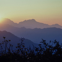 Sunrise over the Himalaya from Dhampus, Nepal