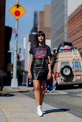 Street style, Evangelie Smyrniotaki arriving at Boss Woman Spring Summer 2017 show held at Skylight Clarkson North, 550 Washington Street, in New York, USA, on September 14, 2016. Photo by Marie-Paola Bertrand-Hillion/ABACAPRESS.COM
