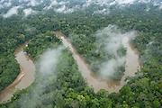 Tiputini River and Rainforest<br /> Yasuni National Park, Amazon Rainforest<br /> ECUADOR. South America