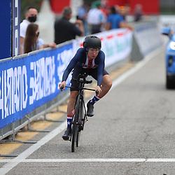 26-09-2020: wielrennen: WK weg vrouwen: Imola<br /> Defending Worldchampion Chloe Dygert crashed