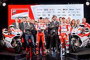 Foto LaPresse - Massimo Paolone<br /> 20/01/17 Bologna (Italia)<br /> Cronaca<br /> MotoGP - La presentazione del team Ducati 2017 con Lorenzo e Dovizioso<br /> Nella foto: Jorge Lorenzo e Andrea Dovizioso con il team Ducati 2017<br /> <br /> Photo LaPresse - Massimo Paolone<br /> 20 January 2017, Bologna (Italy)<br /> MotoGP - The presentation of the Ducati 2017 team with Lorenzo and Dovizioso<br /> In the pic: Jorge Lorenzo and Andrea Dovizioso with 2017 Ducati team