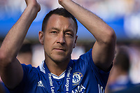 Football - 2016 / 2017 Premier League - Chelsea vs. Sunderland <br /> <br /> An emotional John Terry of Chelsea at the end of the match acknowledges the fans support at Stamford Bridge.<br /> <br /> COLORSPORT/DANIEL BEARHAM