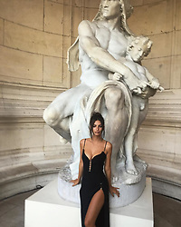 "Emily Ratajkowski releases a photo on Instagram with the following caption: ""Made it to Paris \ud83e\udd42"". Photo Credit: Instagram *** No USA Distribution *** For Editorial Use Only *** Not to be Published in Books or Photo Books ***  Please note: Fees charged by the agency are for the agency's services only, and do not, nor are they intended to, convey to the user any ownership of Copyright or License in the material. The agency does not claim any ownership including but not limited to Copyright or License in the attached material. By publishing this material you expressly agree to indemnify and to hold the agency and its directors, shareholders and employees harmless from any loss, claims, damages, demands, expenses (including legal fees), or any causes of action or allegation against the agency arising out of or connected in any way with publication of the material."