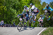 #11 (FIELDS Connor) USA and #959 (SCHOTMAN Mitchel) NED at Round 4 of the 2018 UCI BMX Superscross World Cup in Papendal, The Netherlands
