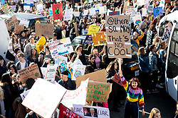 © Licensed to London News Pictures. 15/02/2019. London, UK. Young people demonstrate against climate change in Parliament Square, as part of the group 'Youth Strike 4 Climate'. Many children across the UK today walked out of school as part of a global campaign calling for action over climate change. Photo credit : Tom Nicholson/LNP