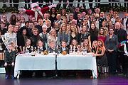 Koningin Maxima is aanwezig bij de BZT Kerstshow in Carre Amsterdam. De BZT Band XXL is compleet! Tien muzikale groepen, met elk een eigen 'sound', treden aanstaande op in een vol Carré op het Kerst Muziekgala 2016 als onderdeel van Meer muziek in de klas.<br /> <br /> Queen Maxima attends the BZT Christmas Show in Amsterdam Carre. The BZT Band XXL is complete! Ten musical groups, each with its own 'sound', stairs leading into a full Carré in Christmas music gala 2016 as part of more music in class.<br /> <br /> Op de foto / On the photo: Koningin Maxima met de BZT Band XXL en Tania Kross , Jan kooijman , Pepijn Gunneweg , Krystl , Saskia Weestand, Maan van Steenwinkel en Jetske van den Elsen met Joop en Janine van den Ende