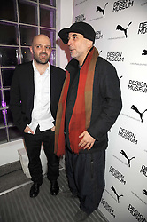 Left to right, Designers HUSSEIN CHALAYAN and RON ARAD at a retrospective exhibition of Hussein Chalayan's designs sponsored by Puma at The Design Museum, London SE1 on 21st January 2009.