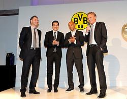 14.05.2011, U-Haus, Dortmund, GER, 1.FBL, Borussia Dortmund Meisterbankett im Bild Manager Michael ZORC, links mit Nuri SAHIN,DEDE und Geschäftsführer.Hans-Joachim WATZKE //   German 1.Liga Football ,  Borussia Dortmund Championscelebration, Dortmund, 14/05/2011 . EXPA Pictures © 2011, PhotoCredit: EXPA/ nph/  Conny Kurth       ****** out of GER / SWE / CRO  / BEL ******