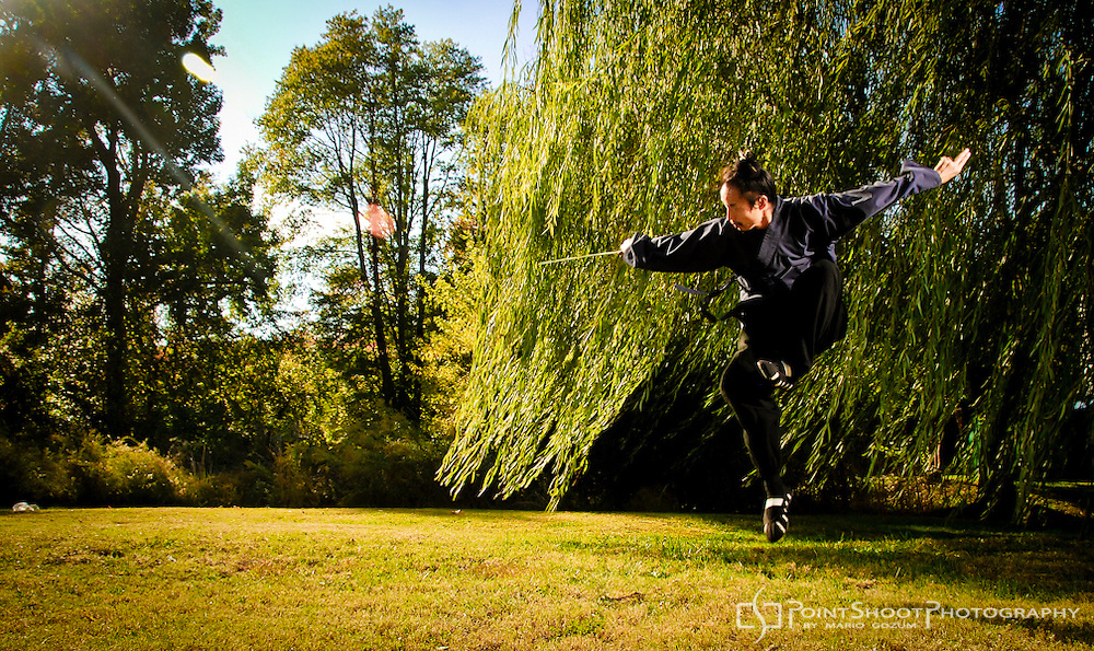 Wudang Kung Fu Master Zhong Xuechao by PointShoot Photography, Stevensville, MD. Image shot in Chester, MD. Master Bing seminar at Little Creek Kung Fu in Chester, MD