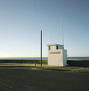A lifeguard station on the river Mersey at New Brighton. The Mersey is a river in north west England which stretches for 70 miles (112 km) from Stockport, Greater Manchester, ending at Liverpool Bay, Merseyside. For centuries, it formed part of the ancient county divide between Lancashire and Cheshire.