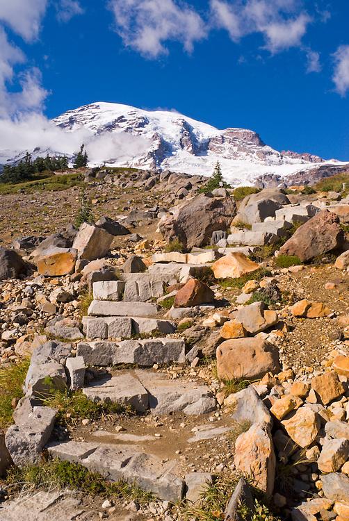 Mount Rainier from the Skyline Trail, Paradise Park, Mount Rainier National Park, Washington