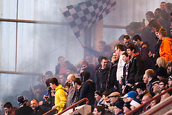 Falkirk fans let of a flare..Dunfermline 0 v 1 Falkirk, 26/12/2012..©Michael Schofield.