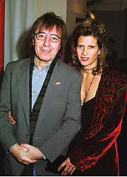 MR & MRS BILL WYMAN he is the former Rolling Stone, at a party in London on 4th November 1998.MLO 52