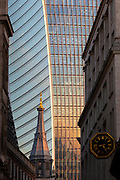 UK, London, City of London. Close up of Walkie Talkie Building.