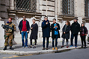People and tourists get curious about a meeting among the right-wing political parties at Palazzo Grazioli. March 23, 2018 in Rome, Italy. Christian Mantuano / OneShot