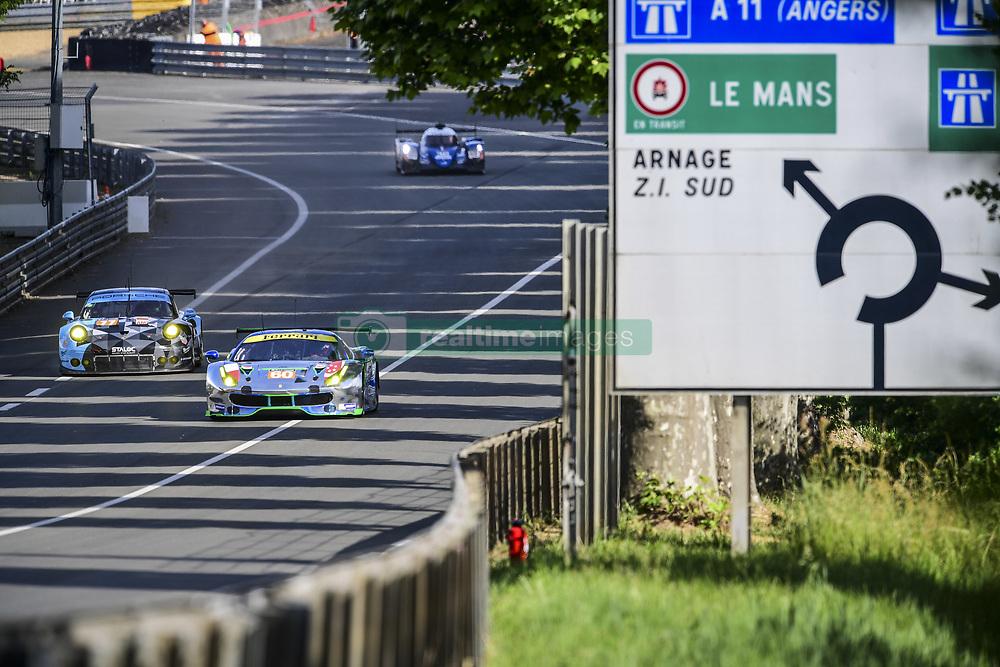 June 4, 2017 - Le Mans, France - 60 CLEARWATER RACING (SGP) FERRARI 488 GTE LMGTE AM RICHARD WEE (SGP) HIROKI KATOH (JPN) ALVARO PARENTE  (Credit Image: © Panoramic via ZUMA Press)