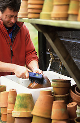 Alan Titchmarsh spring cleaning terracotta pots
