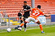 Wimbledon forward Jake Jervis (10), on loan from Luton Town, in action  during the EFL Sky Bet League 1 match between Blackpool and AFC Wimbledon at Bloomfield Road, Blackpool, England on 20 October 2018.