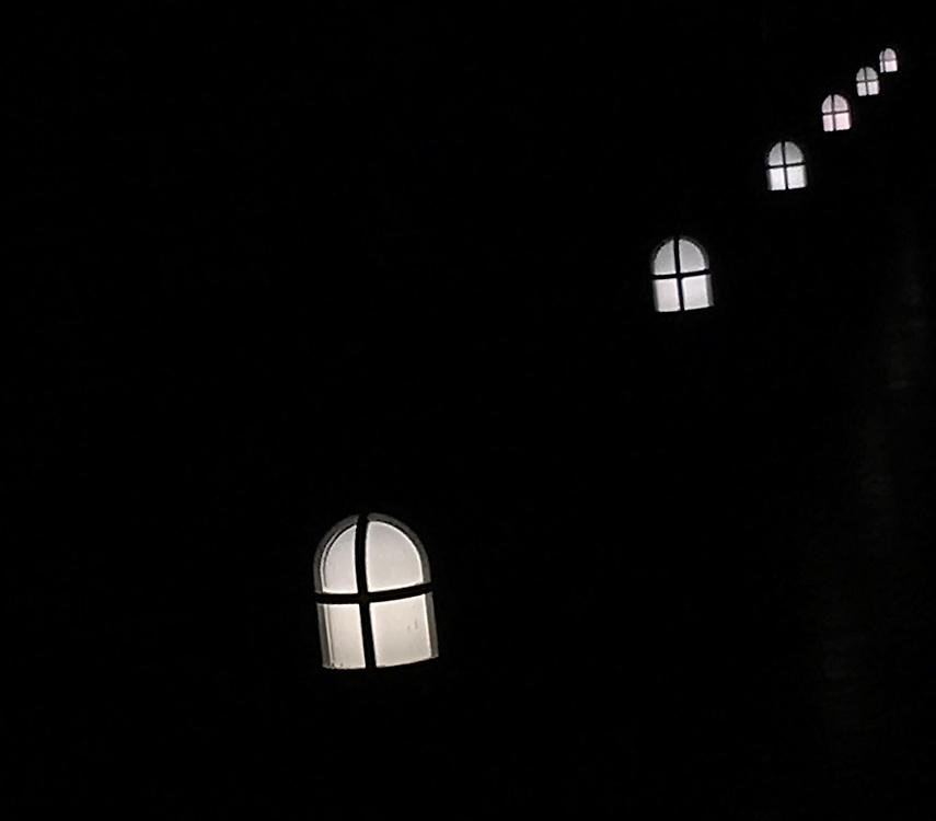 The Getty Lanterns at Night