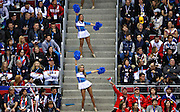 Cheerleaders work the stands while the USA and Russia play the second period of a men's hockey game at Bolshoy Ice Dome during the Winter Olympics in Sochi, Russia, Saturday, Feb. 15, 2014. USA defeated Russia, 3-2. (Brian Cassella/Chicago Tribune/MCT)