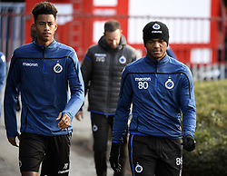 December 10, 2018 - Bruges, Belgique - BRUGGE, DECEMBER 10 : Noah Fadiga and Lois Openda forward of Club Brugge pictured during practice session the day before the UEFA Champions League group A match between Club Brugge KV and Atletico Madrid on December 10, 2018 in Brugge, 10/12/2018 (Credit Image: © Panoramic via ZUMA Press)