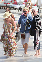 Ellen DeGeneres and Portia De Rossi take a stroll on Saint Jean beach after lunch at the Eden Rock restaurant in Saint Barthelemy island on December 25, 2015. Photo by ABACAPRESS.COM  | 528444_021 St Barthelemy France
