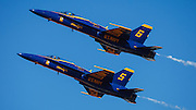 The Blue Angels high alpha pass at the Airshow of the Cascades.