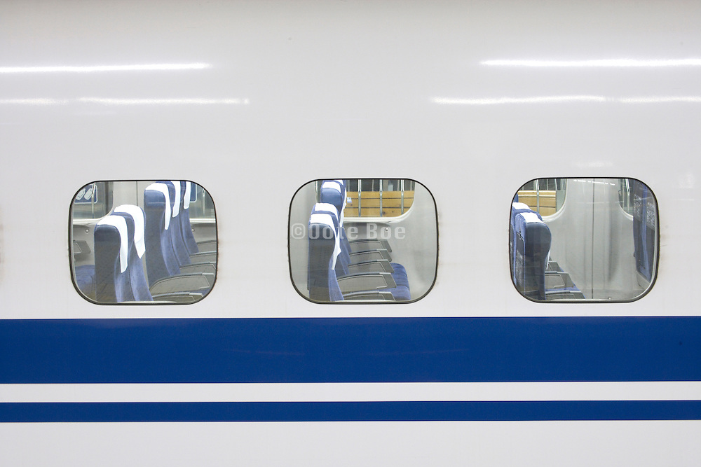 an empty wagon of an bullet train in Japan