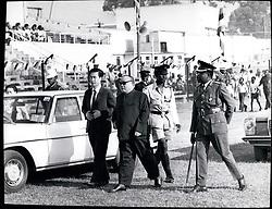 Jan. 01, 1975 - Idi Amin's 4th Anniv.: Arrival of the Chinese Ambassador to Uganda for the military parade. Credits: Camerapix (Credit Image: © Keystone Press Agency/Keystone USA via ZUMAPRESS.com)