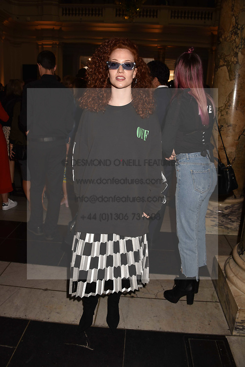 Jess Glynne at the Balenciaga Shaping Fashion VIP Preview, The V&A Museum, London England. 24 May 2017.<br /> Photo by Dominic O'Neill/SilverHub 0203 174 1069 sales@silverhubmedia.com