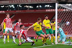 Danny Batth goes close for Stoke City - Mandatory by-line: Nick Browning/JMP - 24/11/2020 - FOOTBALL - Bet365 Stadium - Stoke-on-Trent, England - Stoke City v Norwich City - Sky Bet Championship