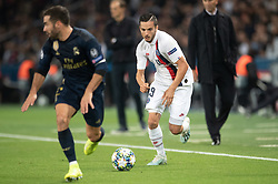 Pablo Sarabia of PSG and Eden Hazard of Real Madrid in action during the UEFA Champions League Raphael Varane Paris Saint Germain and Real Madrid at Parc des Princes on September 18, 2019 in Paris, France<br /> Photo by David Niviere/ABACAPRESS.COM