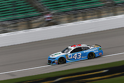 October 19, 2018 - Kansas City, Kansas, United States of America - Darrell Wallace, Jr (43) hangs out in the garage during practice for the Hollywood Casino 400 at Kansas Speedway in Kansas City, Kansas. (Credit Image: © Justin R. Noe Asp Inc/ASP via ZUMA Wire)