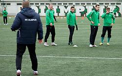Players of NK Olimpija Ljubljana exercise during the first day of team Spring Training on January 7, 2013 in Ljubljana, Slovenia. (Photo By Vid Ponikvar / Sportida.com)