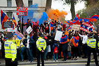 Stop the Armenian Genocide protest Downing Street london 10th oct 2020 photo Brian Jordan